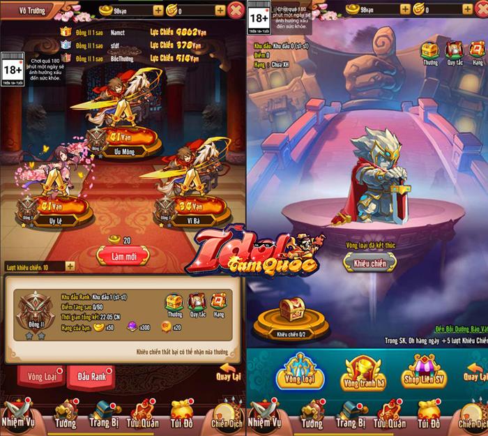 Idol Tam Quốc sở hữu khá nhiều hoạt động, đảm bảo nhìn là muốn chiến! 3