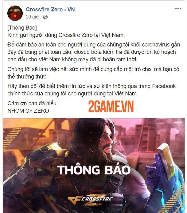 Crossfire Zero hoãn Closed Beta tại Việt Nam vì virus corona 0