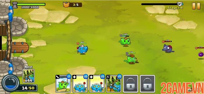 Meowar - Game chiến thuật thả quân có nhân vật chính là các chiến binh mèo đáng yêu 2