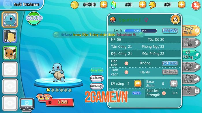 Liên Quân Bảo Bối đích thị là game Pokémon đúng chuẩn bản gốc GAMEBOY 2