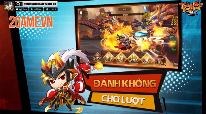 Thiếu Niên Danh Tướng 3Q là game đánh luôn không cần chờ lượt! 1