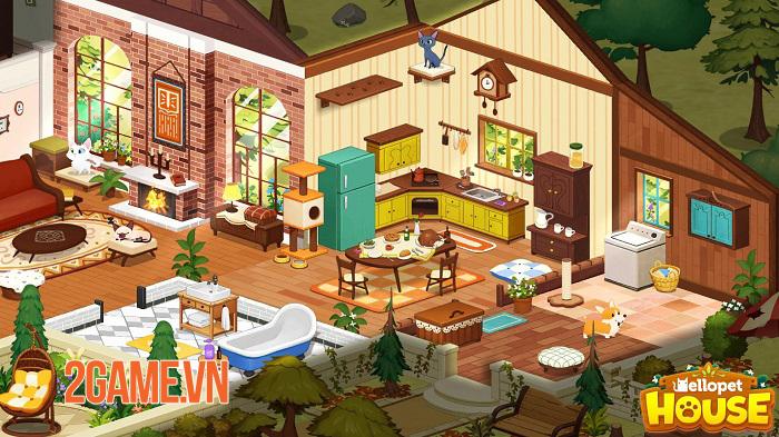 Hellopet House - Game quản lý thú cưng lồng ghép nhiều minigame thú vị 0