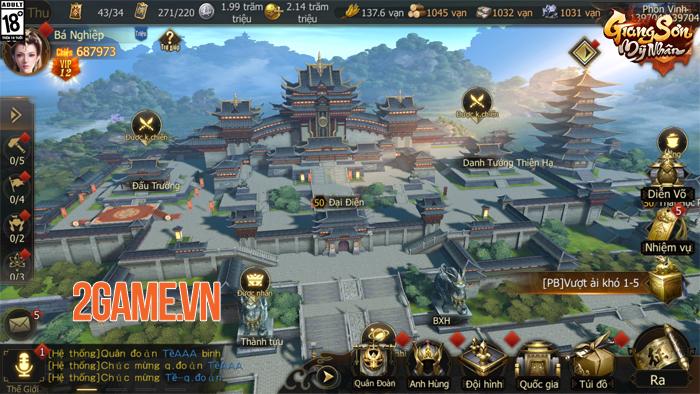 Game chiến thuật Giang Sơn Mỹ Nhân Mobile hẹn ra mắt vào tháng 5 0