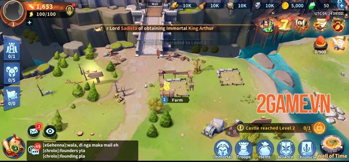 Infinity Kingdom - Game chiến thuật đồ họa 3D thế giới mở 0