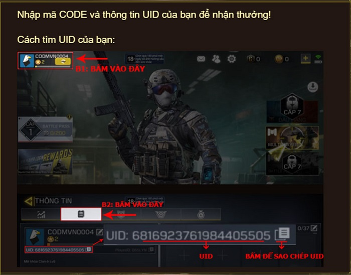 Tặng 888 giftcode Call of Duty: Mobile VN 0