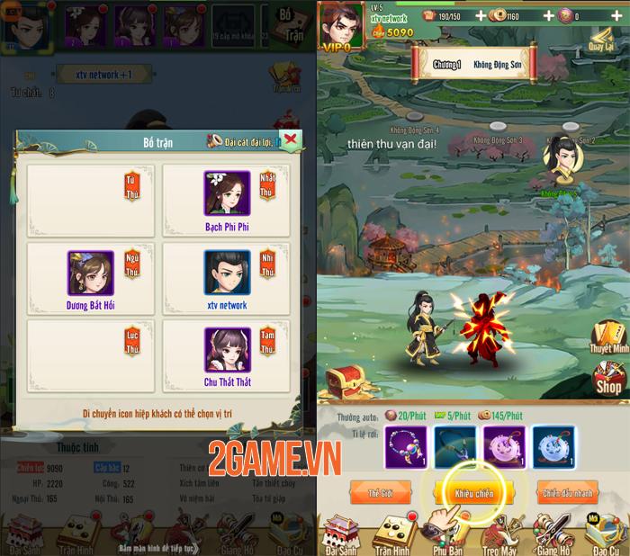 Trải nghiệm Đại Hiệp Truyện: Game đấu tướng Võ hiệp dễ chơi dễ nghiện 2