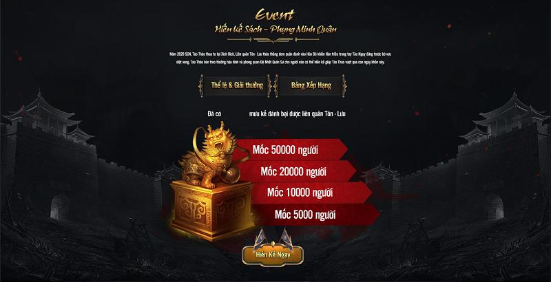 Tam Quốc Liệt Truyện ra mắt  trang chủ đi kèm nhiều quà tặng giá trị cho người chơi 1