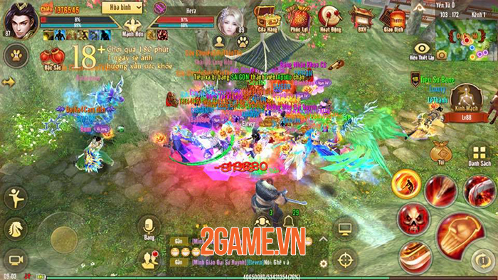 Người chơi Tân Thiên Long Mobile VNG tăng lực chiến vù vù nhờ tính năng mới Long Văn 3
