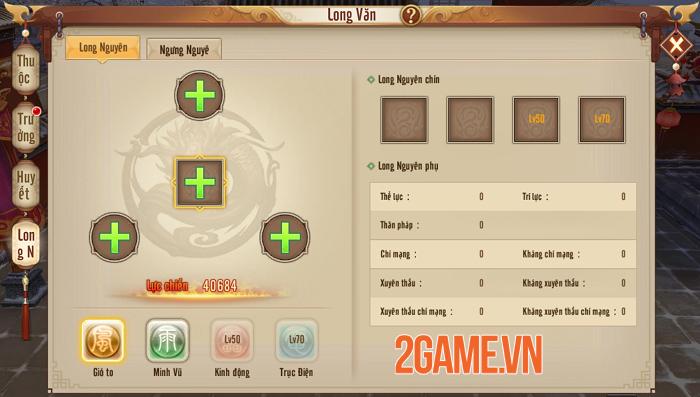 Người chơi Tân Thiên Long Mobile VNG tăng lực chiến vù vù nhờ tính năng mới Long Văn 4