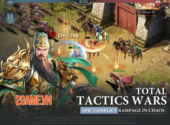 Three Kingdoms: Raja Chaos - Game quản lý quân sự tái hiện lại lịch sử Tam Quốc 1