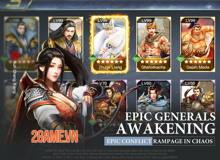 Three Kingdoms: Raja Chaos - Game quản lý quân sự tái hiện lại lịch sử Tam Quốc 0