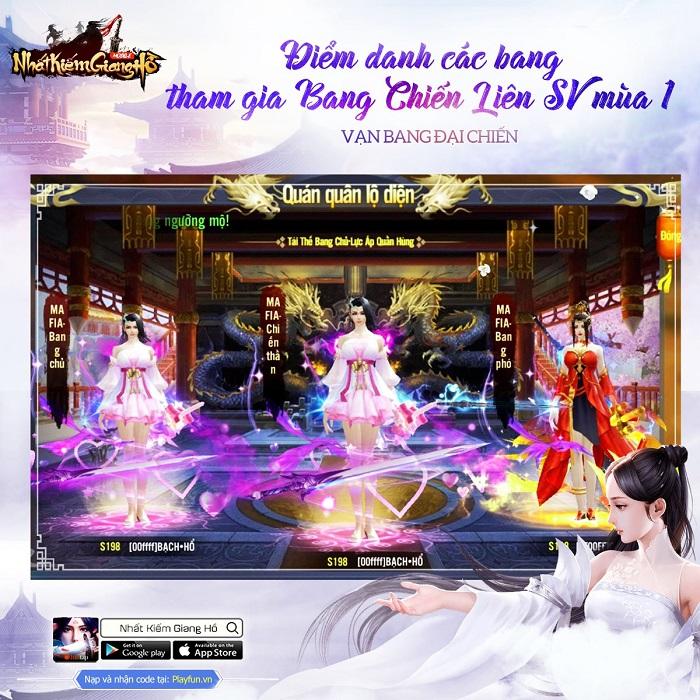Nhất Kiếm Giang Hồ lần đầu tiên tổ chức siêu giải đấu Bang Chiến Liên Server 2