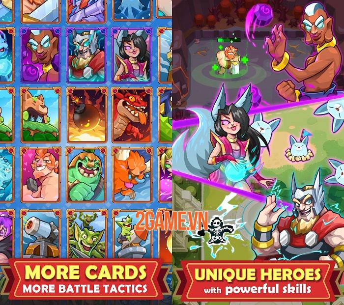 Hero of Empire: Clash Kingdoms - Game thẻ bài RTS chiến đấu 1vs1 0