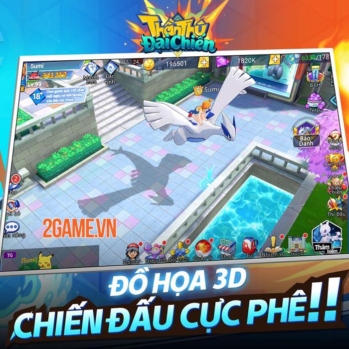 Game Pokemon mới Thần Thú 3D Mobile cập bến Việt Nam 2