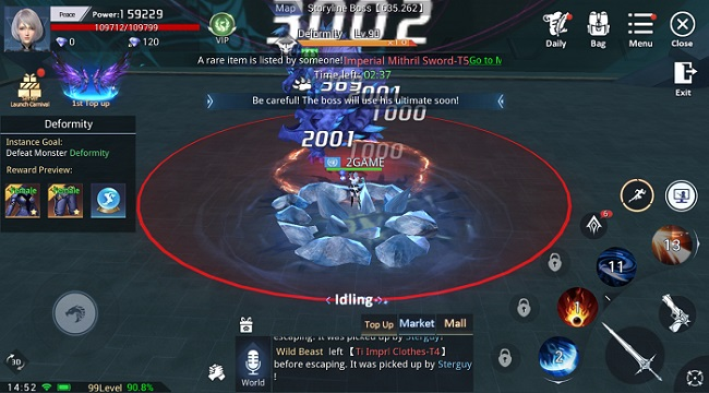 Kỷ Nguyên Huyền Thoại có lối chơi nhập vai điển hình trên nền đồ họa siêu ấn tượng