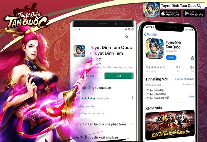 Tuyệt Đỉnh Tam Quốc nhanh chóng đứng Top các bảng xếp hạng game mobile 0