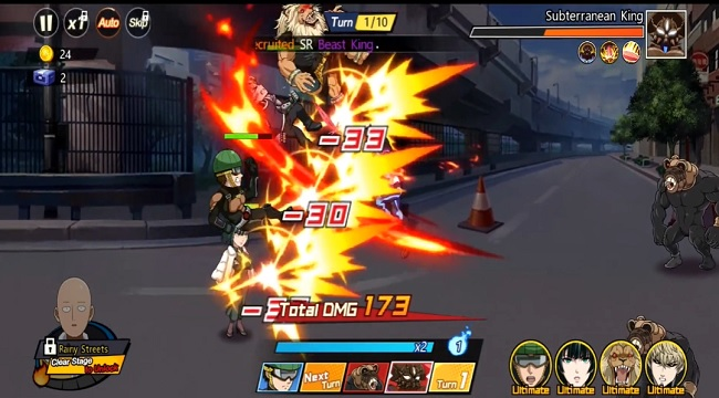 One Punch Man: The Strongest – Game đánh theo lượt sử dụng IP anime siêu nổi tiếng
