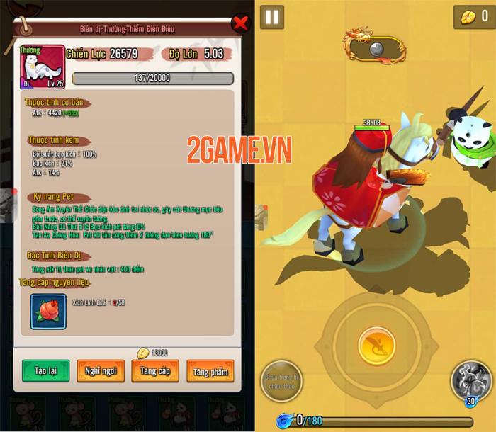 Pet chính là nguồn chiến lực bổ trợ mạnh mẽ cho người chơi Đại Hiệp Piu Piu Piu 1