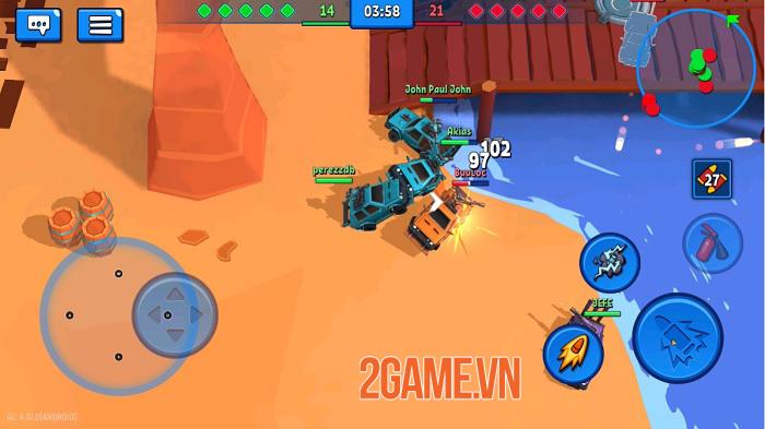 Rage of Car Force - Game MOBA bắn xe với những màn đấu tốc độ cao 0