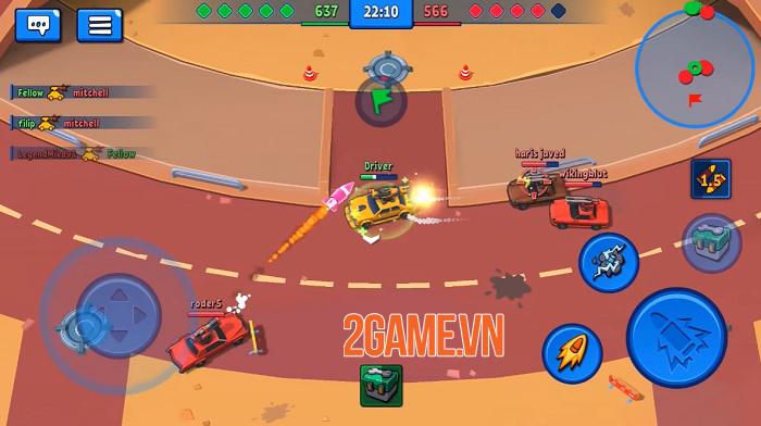 Rage of Car Force - Game MOBA bắn xe với những màn đấu tốc độ cao 2