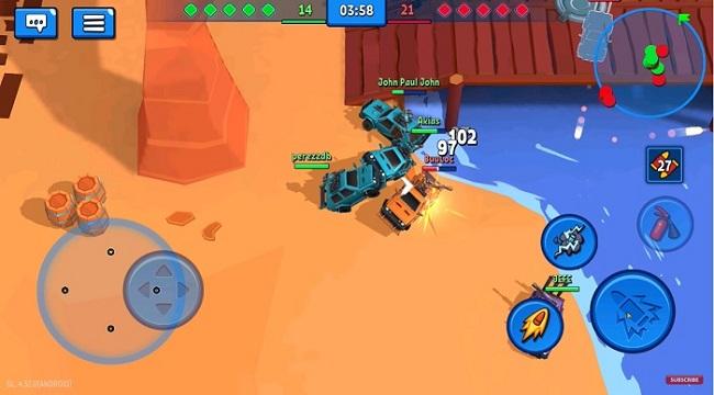 Rage of Car Force – Game MOBA bắn xe với những màn đấu tốc độ cao