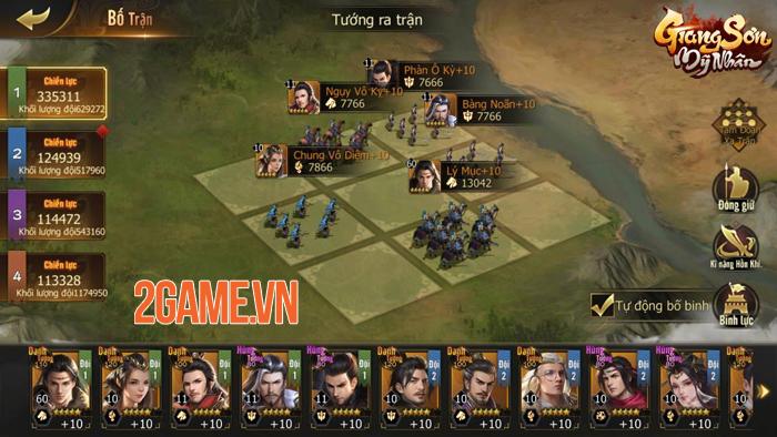 Game Giang Sơn Mỹ Nhân đem tới một thế giới chiến thuật chuẩn mực 2