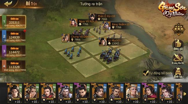 Game Giang Sơn Mỹ Nhân đem tới một thế giới chiến thuật chuẩn mực