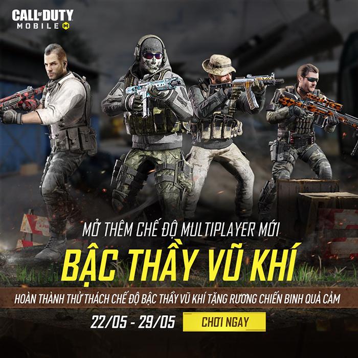Bậc Thầy Vũ Khí – Sân chơi của những game thủ đa năng trong Call of Duty: Mobile VN 0