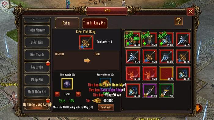 Game thủ Mộng Chinh Đồ được NPH quăng hẳn 20 tính năng mới khi đòi update 2