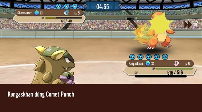 Poke M nổi bật chất cổ điển trong đồ họa, chuyên sâu về hệ thống Pokemon