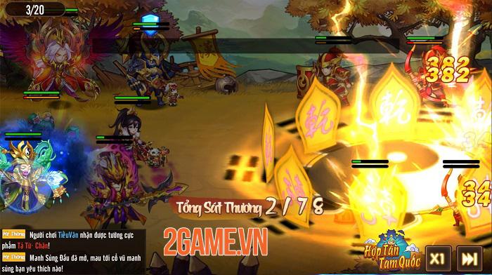 Hợp Tân Tam Quốc - Game đấu tướng đồ họa chibi sắp ra mắt 0