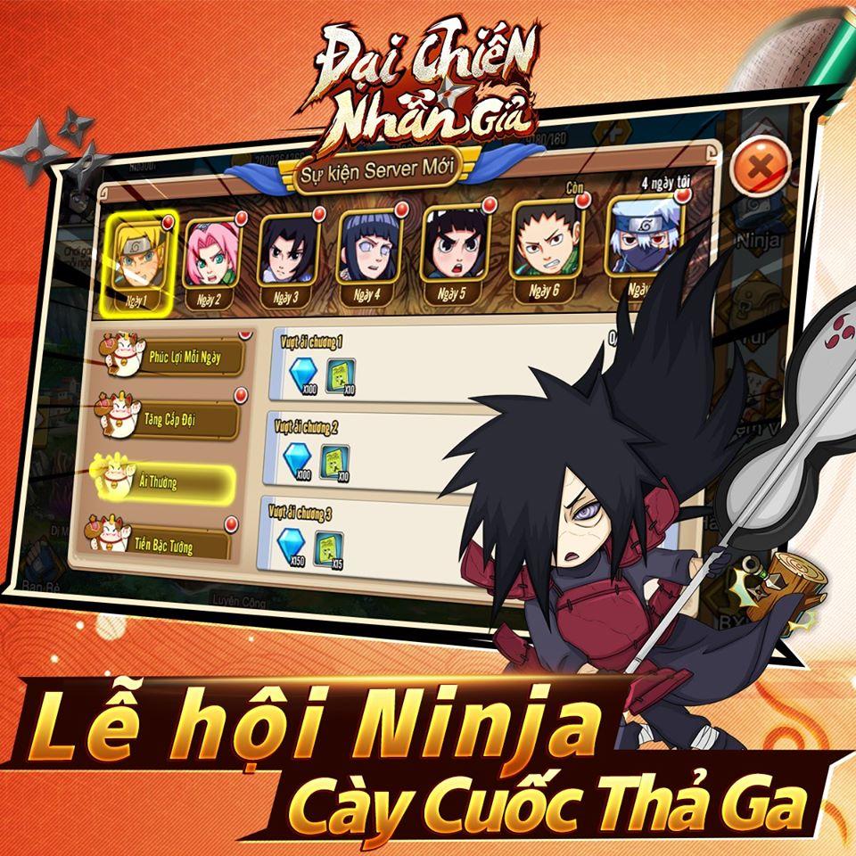 Đại Chiến Nhẫn Giả - Game mobile Naruto cày cuốc thả ga sắp ra mắt 2