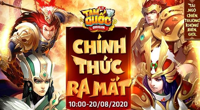 Tặng 308 giftcode game Tam Quốc Origin