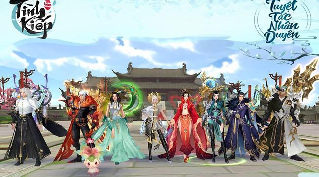 Tình Kiếp Tam Sinh mê hoặc game thủ với 8 môn phái đa dạng mỗi người mỗi vẻ