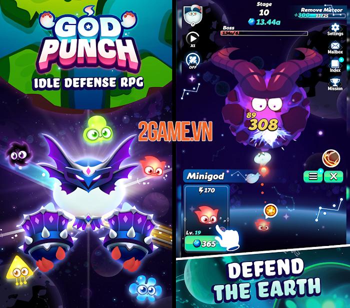 Hóa thân thành vệ thần bảo hộ Trái Đất trong God Punch: Idle Defense 0