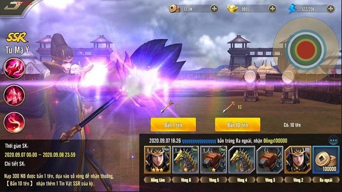 Tuyệt Đỉnh Tam Quốc chiều lòng game thủ với chuỗi sự kiện Cuối Hạ Lập Thu 2