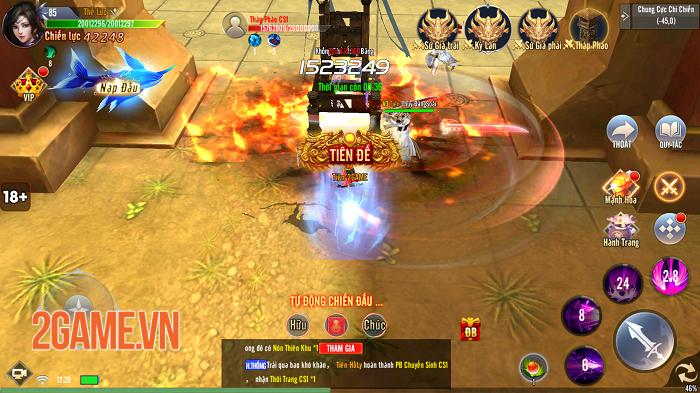 Giang Hồ Tu Tiên sở hữu gameplay hội tụ tinh hoa trong tinh hoa 8