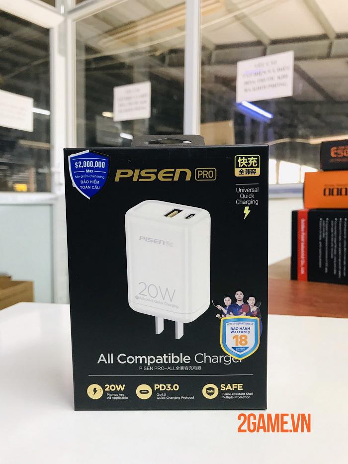 PISEN Pro Dual Port QP 20W - Loại bỏ nỗi lo không có sạc nhanh kèm theo máy iPhone 12 0