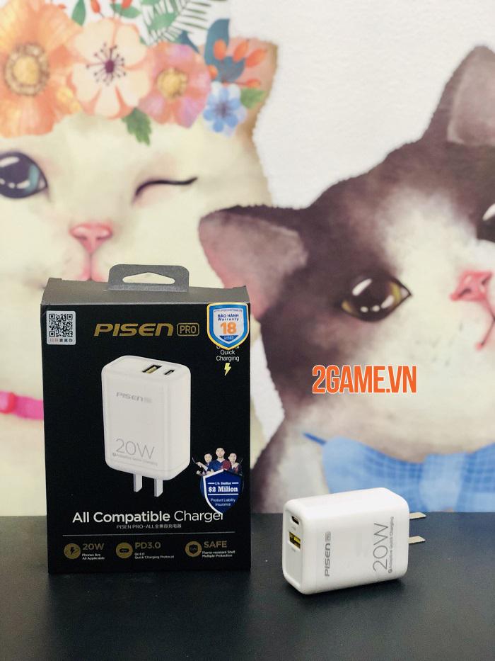 PISEN Pro Dual Port QP 20W - Loại bỏ nỗi lo không có sạc nhanh kèm theo máy iPhone 12 4