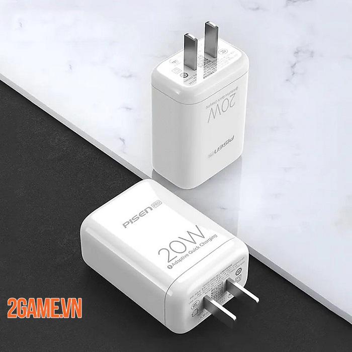 PISEN Pro Dual Port QP 20W - Loại bỏ nỗi lo không có sạc nhanh kèm theo máy iPhone 12 2