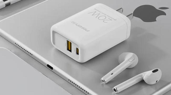 PISEN Pro Dual Port QP 20W – Loại bỏ nỗi lo không có sạc nhanh kèm theo máy iPhone 12