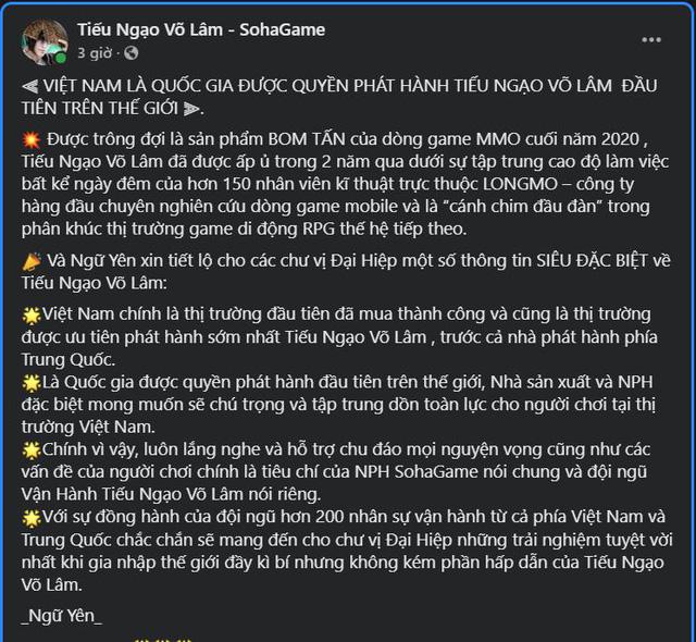 Tiếu Ngạo Võ Lâm siêu phẩm chinh phục game thủ Việt dịp cuối năm 12