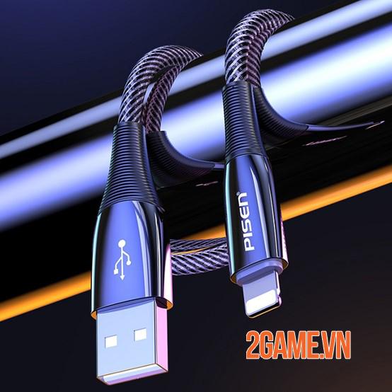 Cáp sạc Pisen Lightning ZINC intelligent Power-off 2000mm – Sạc nhanh mà vẫn đảm bảo an toàn 2