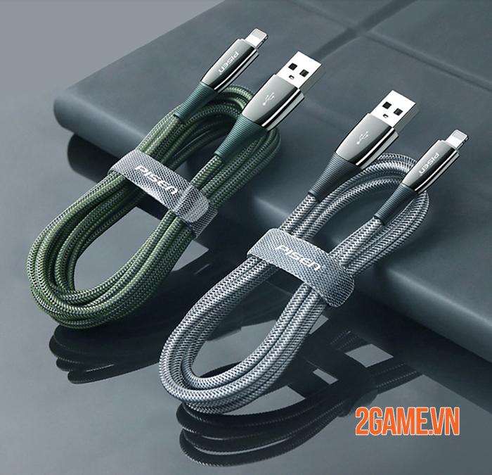 Cáp sạc Pisen Lightning ZINC intelligent Power-off 2000mm được tin tưởng tuyệt đối 2