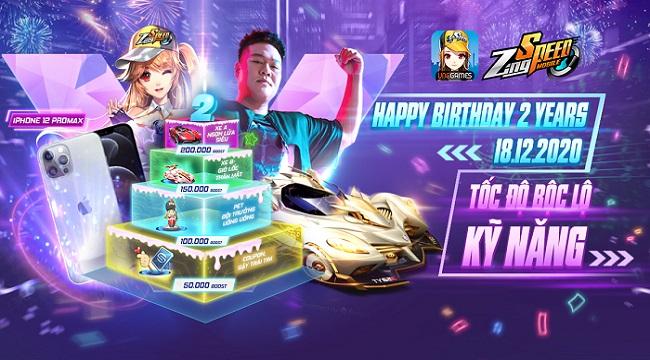 ZingSpeed Mobile tổ chức tiệc sinh nhật 2 tuổi chất như nước cất