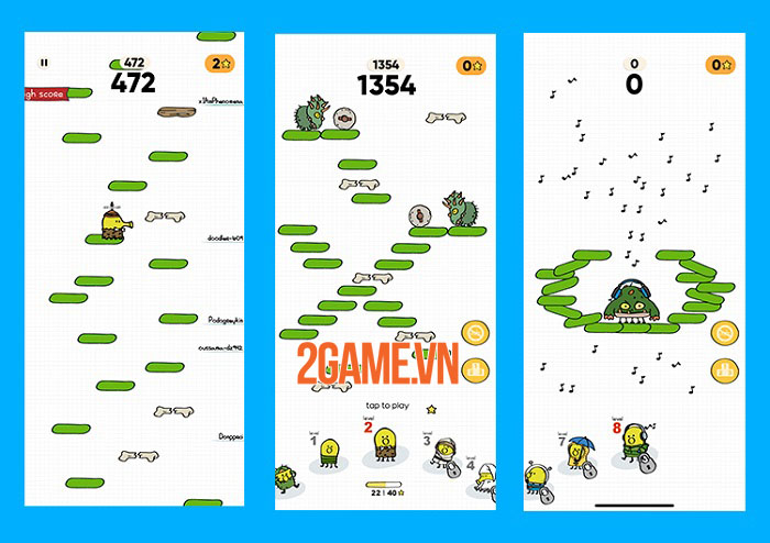 Doodle Jump 2 - Game platformer cổ điển ra mắt phần tiếp sau thời gian vắng bóng 3