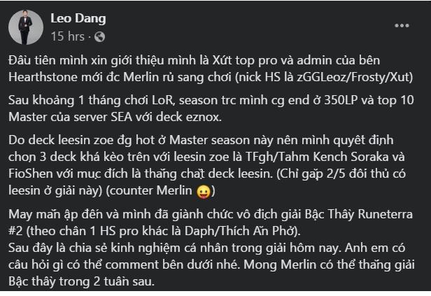 """Huyền Thoại Runeterra: Đã có game thủ Việt """"phá đảo"""" server Đông Nam Á dù chỉ mới chơi 1 tháng 2"""