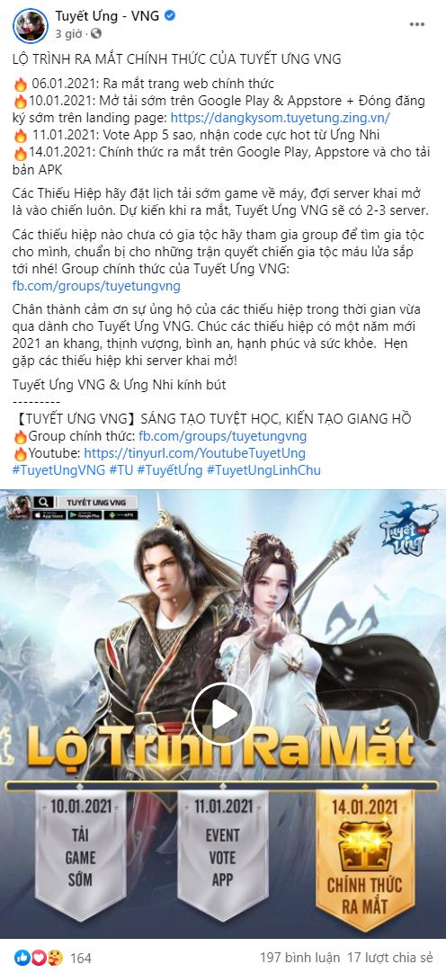 Tuyết Ưng VNG cuối cùng đã công bố ngày ra mắt sản phẩm 0