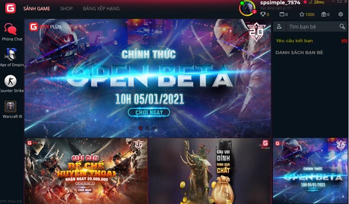 GTV Plus 2.0 chào năm mới bằng loạt nâng cấp đáng giá cho nền tảng chơi LAN Game 1