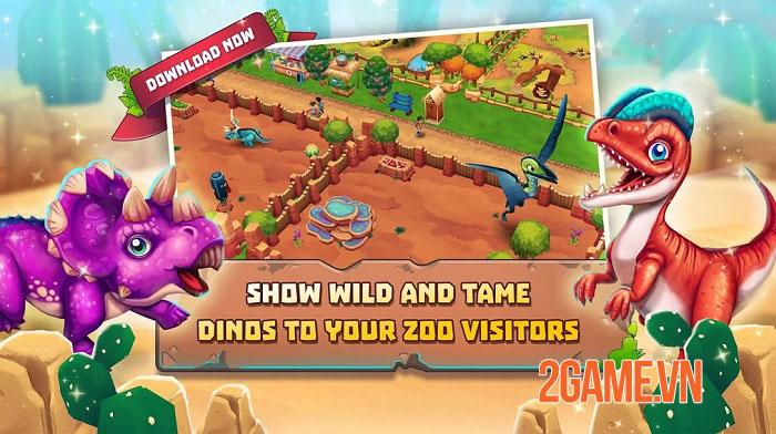 Dinosaur Park: Primeval Zoo - Game nông trại đề tài khủng long vui nhộn 1